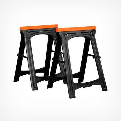 Saw Horse Workbench Support X2 Heavy Duty Rubber Foldable Non Slip 150Kg Max