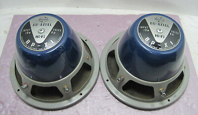 Pair of  8in National  8P-XI Du-Axial Speakers==For SE Amp!