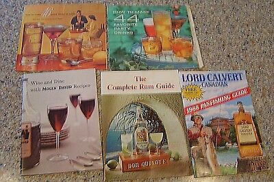 Lot of 6 Vintage Cocktail Books Drinks Recipes dubouchett don quiote lord calver