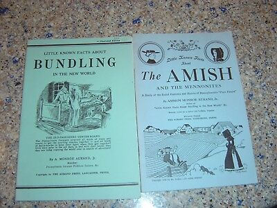 Little Known Facts About Bundling and Amish 1938 PA Pamphlet Aurand PENNSYLVANIA