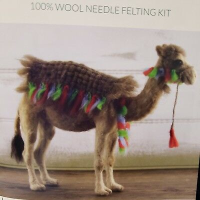 CRAZY Needle Felting Deluxe Kit CAIRO the CAMEL color step by step directions