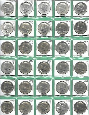 Complete 1964-2018 Kennedy Half Set with a Great Many AU/ Unc