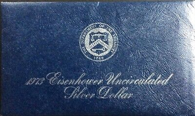 1973-S $1 Silver Ike Dollar 40% Silver Blue Pack Brilliantly Uncirculated