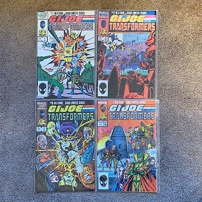 GI Joe and the Transformers Marvel 25th Complete 1 2 3 4 Full Run 1987