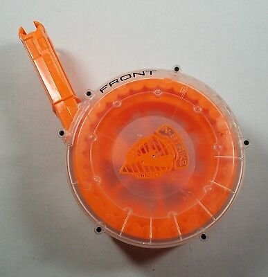 NERF N-Strike Raider CS-35 Clear Series Drum Magazine Soft Foam Dart Clip Rare