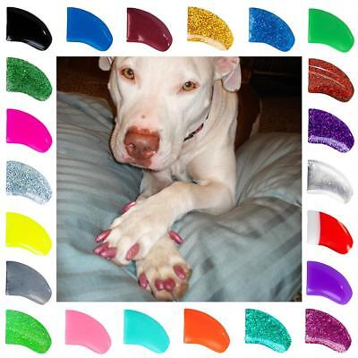 Soft Purrdy Paws Nail Caps for Dog Claws Grooming ~ 6 month supply XTRA ADHESIVE