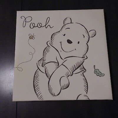 Winnie the Pooh Black and White Canvas Wall Art
