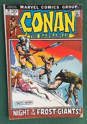 Conan the Barbarian #16 Marvel Comics Bronze Age Barry Smith art sword giant gvg