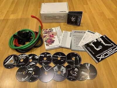 P90X Extreme Home Fitness Workout 12 DVD'S And Resistance Bands