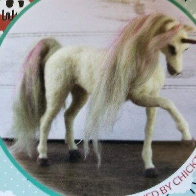 CRAZY Needle Felting Deluxe Kit UNA the UNICORN color step by step directions
