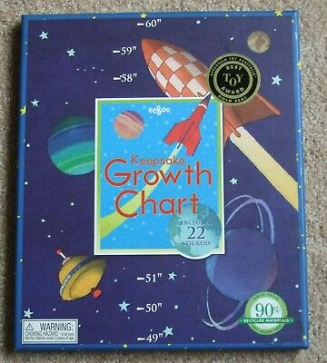 eeBoo keepsake outer space growth chart with stickers! rockets