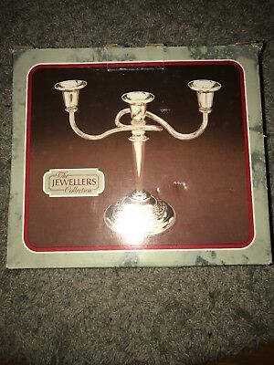 The Jewellers Collection Candleabra Candle Holder Stick Silver Plated