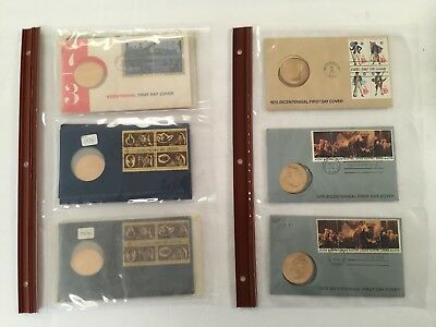 American Revolution Bicentennial ~ First Day Covers & Coins ~  Lot of 6