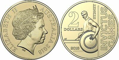 2018 1 X $2 Invictus Games Uncirculated Coin From RAM Roll. Lot 2 Cat $8.00