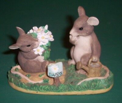 Fitz & Floyd Charming Tails I Love You A Whole Bunch Daisy Mouse #89/715 Retired