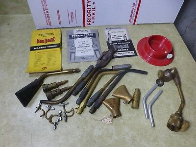 Group of Vintage Bernzomatic & Turner Torch Parts