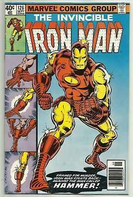 IRON MAN #126 (1st Appearance of Hammer, Classic Cover) Marvel Comics, 1979