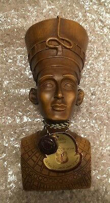 Al-Aseel Handmade in Egypt Queen Nefertiti Statue,Solid Bust Resin Compound-RARE