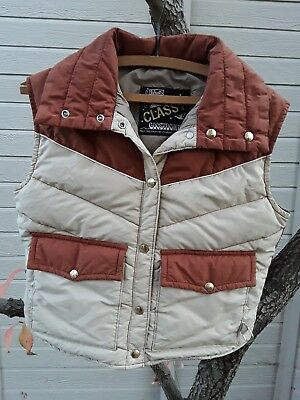 Vintage 60's-70's Walls Blizzard-Pruf Class 1 Goosedown Snap Vest. Made In USA