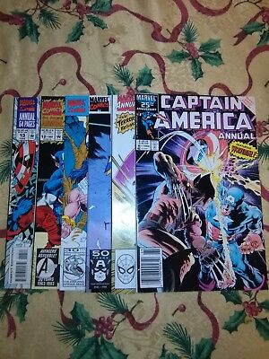 Captain America Annuals lot includes Annual #8 Key issue Wolverine Mike Zeck