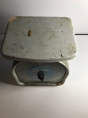 Vintage Antique Pelouze Family Scale Farm Kitchen 5 Lb
