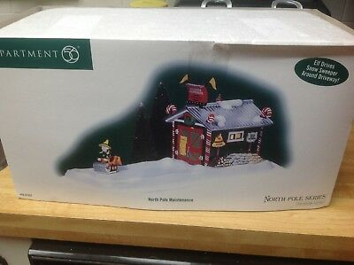 Dept 56 North Pole maintenance preowned