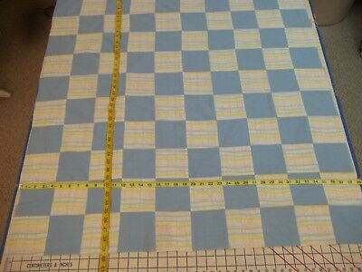 Handmade Unfinished Quilt Top Miracle Baby With Blue Approx. 39x39 (4)
