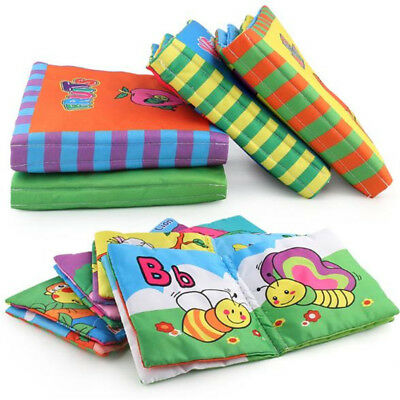 Baby Animal Cloth Book Infant Intelligence Development Toy Bed Cognize Book BS