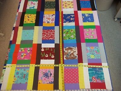 Handmade Unfinished Quilt top Girls I Spy Scrappy Approx.46x55 (5)