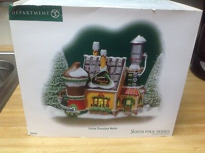 Dept 56 North Pole series cocoa chocolate works& hot choc tower & smores