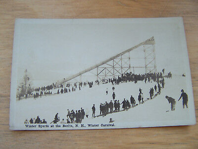 Postcard of Berlin New Hampshire Winter Carnival Real Photo Card