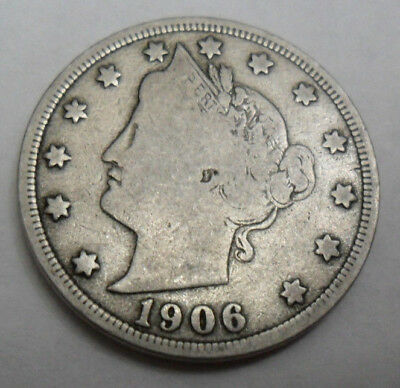 "1906 P Liberty Head ""v"" Nickel  *ag Or Better*  **free Shipping**"