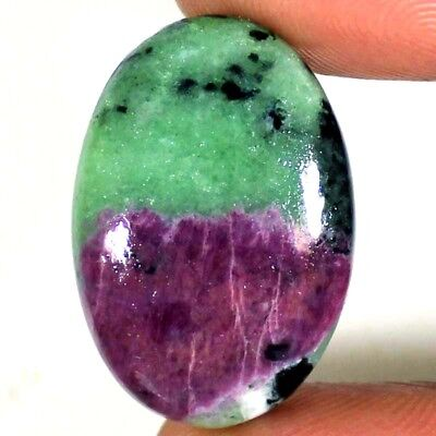 31.50 CT NATURAL AFRICAN RED GREEN Ruby Zoisite OVAL CABOCHON UNTREATED GEMSTONE