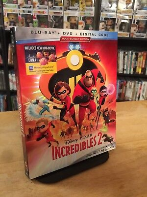 The Incredibles 2 w/Slipcover Blu-ray + DVD + Digital Code NEW & Factory Sealed