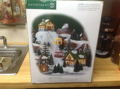 Dept 56 villages animated Gondola preowned