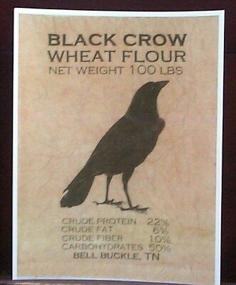Black Crow Wheat Flour Bell Buckle, Tennessee Reprint