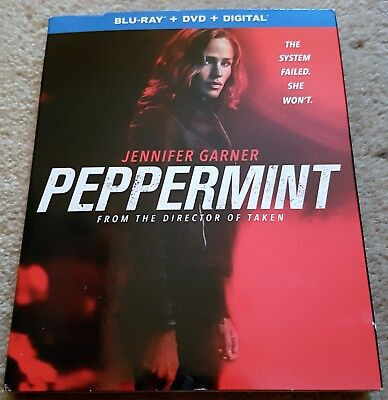 PEPPERMINT Slipcover BLU RAY ONLY Jennifer Garner Method Man Pierre Morel Taken