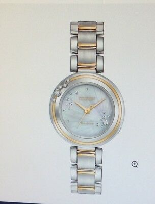 Citizen Women's ECO-Drive Dress Watch EM0464-59D - Carina 2-tone Brand NEW!!!