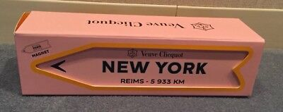 Veuve Clicquot Arrow NEW YORK Reims Champagne Journey Magnetic PINK Sign