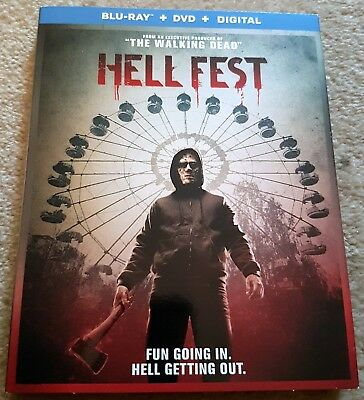 HELL FEST Slipcover BLU RAY ONLY Slasher Ghoulish Carnival Halloween Tony Todd