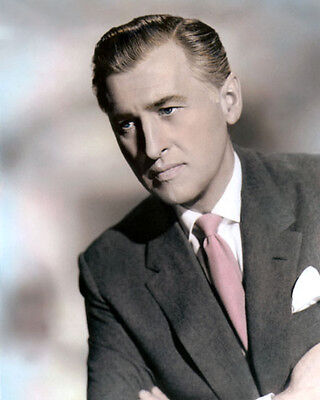"""STEWART GRANGER MOVIE STAR ENGLISH ACTOR 8x10"""" HAND COLOR TINTED PHOTOGRAPH"""
