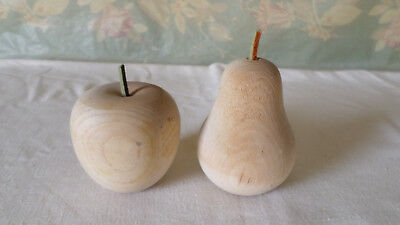 Turned Wood Apple and Pear