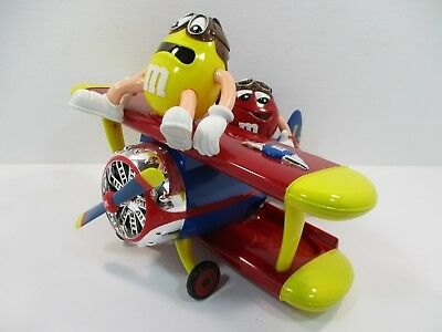 M&M's World Red and Yellow Character Barnstorming Airplane Candy Dispenser w/Tag