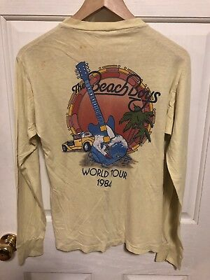 Vintage Beach Boys 1984 World Tour Concert T Shirt Long Sleeve