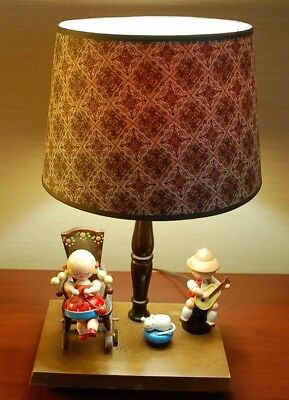 Vintage 1960's Underwriters Labratories Musical and Mobile Baby Lamp