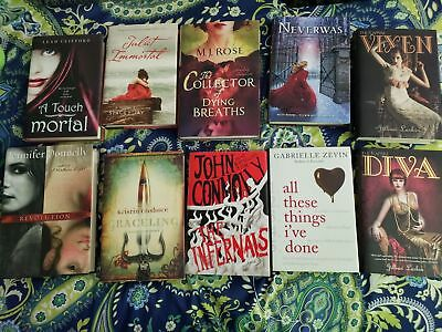 Book Lot 10 books Young Adult, Romance, Mystery. Hardcover. English