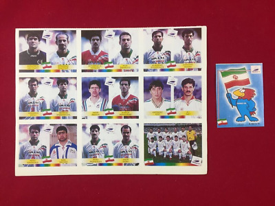 Panini World Cup France 98 WC 1998 Iran Team Colombia Edition