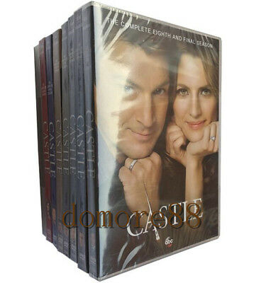 CASTLE : The Complete Series DVD Seasons 1-8 - Season 1 2 3 4 5 6 7 & 8 Sealed