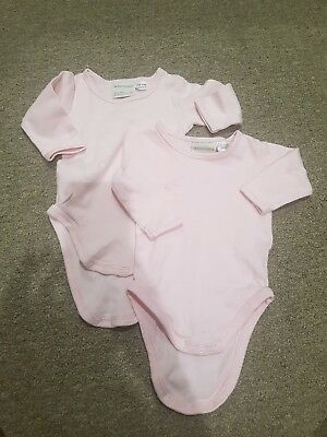 Marquise baby girl long sleeve pink singlets size 000