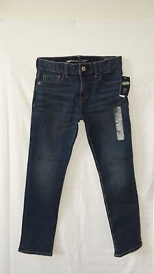 Gap Kids Jeans Sz 7 Regular Skinny For Boy Color Blue New With Tags